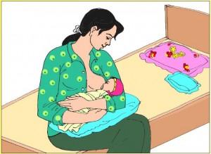 Cho trẻ bú mẹ đầy đủ
