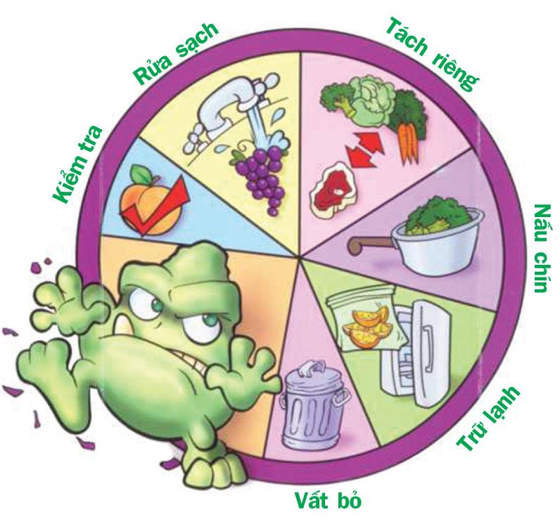 Quy trình vệ sinh an toàn thực phẩm gia đình hang ngày